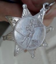 Sterling Silver Athletics / Shot Putt Medal h/m 1923 - British Army Of The Rhine