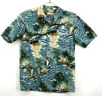 Vintage Aloha Republic Men's Medium Made in USA Short Sleeve Hawaiian Shirt