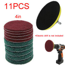 11PC Drill Cleaning Brush Kit Brush Power Tub Cleaner Combo Tool for Grout