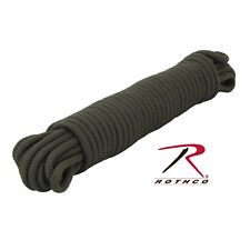 """50' or 100' 3/8"""" Thick Olive Drab Tactical Utility Rope Tensile Strength: 1200lb"""