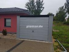 Blechgarage 3x5 in R9006 Horizontalpanel 4-Kantprofil Halle Garage KFZ Lager