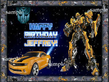 BUMBLEBEE Edible Photo CAKE Image Icing Topper Decoration FREE SHIP Transformers