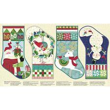 Better Not Pout Stocking Panel by Nancy Halvorsen for Benartex-Christmas