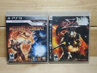PS3 Fighting Game Lot Mortal Kombat & Ninja Gaiden Sigma Playstation 3 Tested