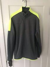 Men's Neon Under Armour Activewear 1/4 Zip Running Work Out Top Xl $75+