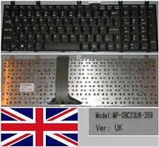 Clavier Qwerty UK MSI MS1683 MS-1683 CR600, LG E500 MP-08C23UK-359 Noir