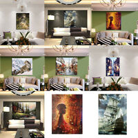 Street Scene Hand-painted Oil Painting Abstract Art Decor On Canvas Unframed New