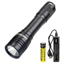 Light Diving Torch Rechargeable, LED Scuba Dive Flashlight 70 Meters Lights Use