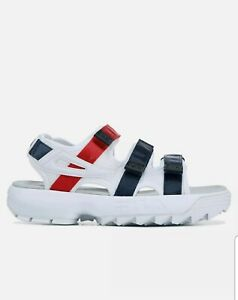 Fila Disruptor Womens Sandals White-Navy-Red 5sm00035-125 Size 8