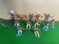 Vintage Timpo Toys Wild West Indians Plastic Toy Soldiers Lot 1/32 scale 1970's