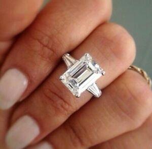 Emerald Baguette Diamond Engagement Rings For Sale Ebay
