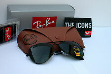 NEW AUTHENTIC RAY BAN AVIATOR RB3026 L2821 62MM GREEN G-15 LENS BLACK FRAME
