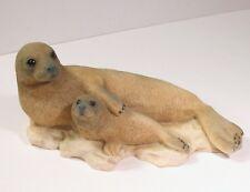 Castagna Seal Pup Cute Figurine Sculpture Italy 1991 Alabaster Brown