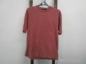 NEW Ksubi Biggie Short Sleeve Tee T-Shirt Brick Mens Sz M RRP$79.95