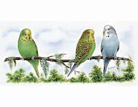 "12 Blue Bird Birds Flying 1//2/"" Waterslide Ceramic Decals Bx"