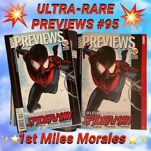 PREVIEWS #95 + Diamond PREVIEWS Catalog July 2011 Miles Morales Marvel Comic LOT