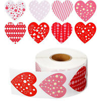 500pcs Heart Shape Valentine's Day Stickers Birthday Party Seal Labels Box Tag