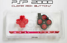 PSP 2000 Replacement Clear Red Button Set - UK Dispatch