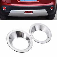 2x Chrome Rear Fog Light Cover Molding Frame Ring Trim For Nissan Qashqai 07-13