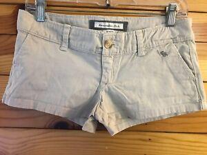 Abercrombie & Fitch Khaki Stretch Shorts Women's Juniors Size 0