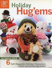 Holiday Hug'ems 6 Toys & Blankets To Crochet Annie's PATTERN/INSTRUCTIONS NEW