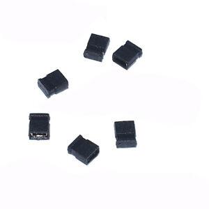 50PCS 1.27mm Pitch Black Closed Jumper Short Cap Shunt Header for Circuit Board