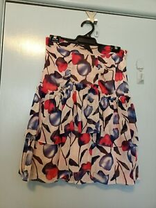 Alannah Hill red and blue floral skirt in size 10