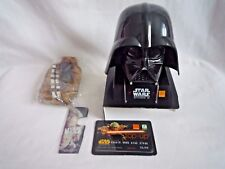 VINTAGE ORANGE STAR WARS DARTH VADER PHONE HOLDER CHARGER WITH CHEWBACCA CASE