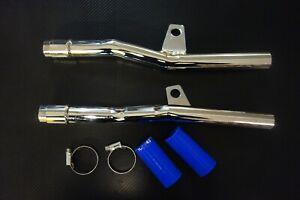 YAMAHA TDR250 TDR 250 silencer universal kit CHROME NEW  2yk 1kt exhaust can