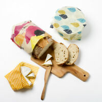 Organic Beeswax Food Wrap - Large Pack of SEVEN - Eco Friendly - local Bees wax