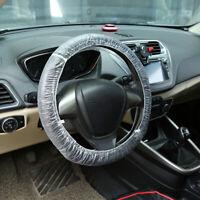 200PCS Car Disposable Plastic Steering Wheel Cover Waterproof Cover Universal