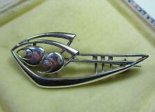 BEAUTIFUL 9CT WHITE GOLD OLA GORIE MARGARET BROOCH