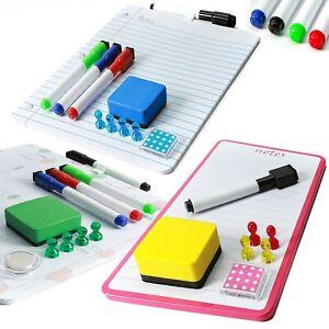 Magnetic Weekly Planner Whiteboard, Small Fridge Calendar or Dry Wipe Memo Board