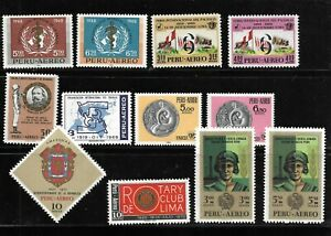 (59448) PERU CLASSIC STAMPS, ALL UNUSED OG, WITH AIRMAIL NICE SELECTION  $$