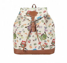 "Owl Backpack Signare Tapestry ""Colourful Owls -  Small Backpack or Rucksack"
