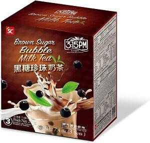 Bubble Tea, Brown Sugar Milk Tea with Tapioca Pearl. 210g (3 Packs)
