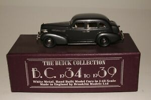 Brooklin Models 1937 Buick Special 4 Door Touring Sedan With Box, 1/43 Scale