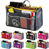 Lady Women Insert Handbag Purse Liner Organizer Bag Tidy Travel Zip Makeup Case
