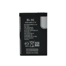 Replacement Li-ion Battery 3.7V 1020mAh for Nokia BL-5C 1020 Rechargeable Witty