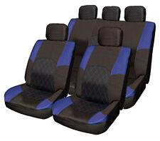 Opel Vauxhall Corsa Frontera BLUE & BLACK Cloth Seat Cover Set Split Rear Seat