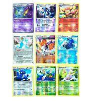 Lot de 9 cartes Pokémon Rares seulement Holo Reverse FR / JAP sans double