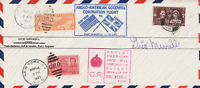 1937 GB USA ANGLO AMERICAN GOODWILL 1937 CORONATION SIGNED FLOWN & INSERT FDC