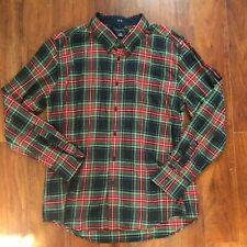 Tommy Hilfiger Men's Plaid Button Down XL Shirt Red Green Top