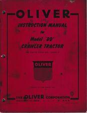 Oliver Model Dd Crawler Tractor Instruction Manual