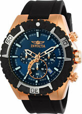Invicta Men's Aviator Chrono 100m Gold Tone Stainless Steel Silicone Watch 22524