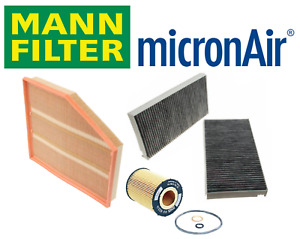 OEM Air Filter Oil Filter AC Cabin Filter Carbon Mann BMW 550i 650i 2006-2010