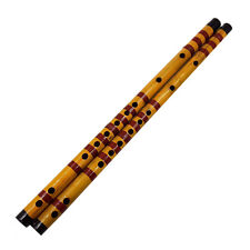 Long Bamboo Flute Clarinet Student Musical Instrument 7 Hole 42.5cm HF