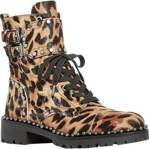 Sam Edelman Womens Jennifer Calf Hair Lace Up Combat Boots Shoes BHFO 8469
