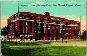 "1914 Emporia, KS Postcard ""Physical Training Building, Kansas State Normal"""