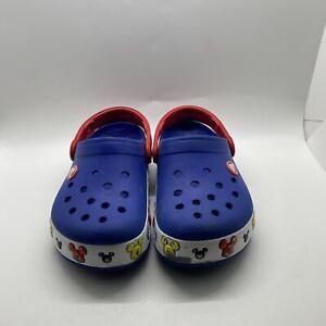 Crocs Crocband Disney Mickey Mouse Slip on Clog Sandals Shoes 12C